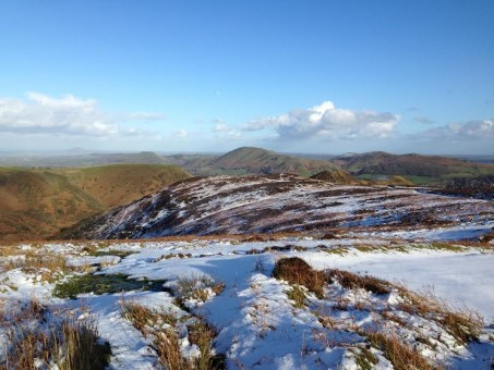 View over the Lawley from the Long Mynd